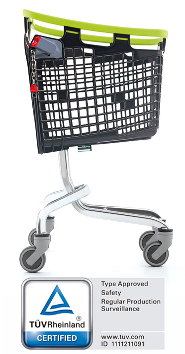 The LOOP 100 L  shopping cart is awarded TÜV Rheinland