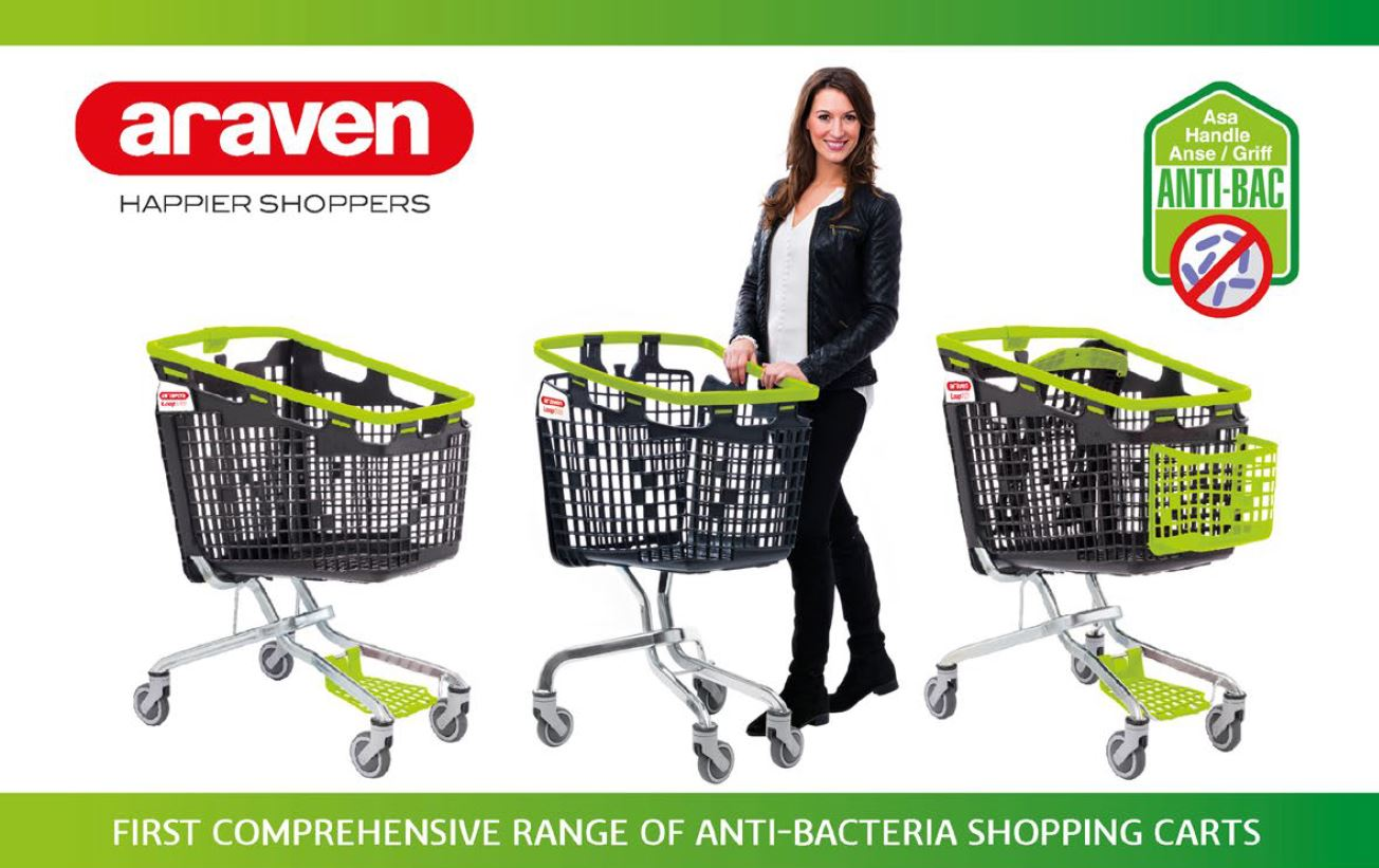 shopping cart anti bacteria