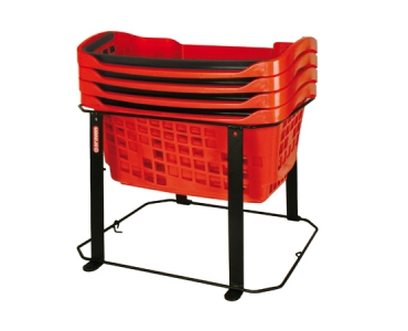 Basket-trolley without wheels