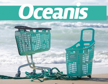 Oceanis recycled shopping baskets carts ocean plastic