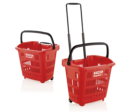 Cesta supermercado Shop & Roll 34L
