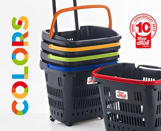Cesta de la compra con ruedas Shop & Roll 34 L. COLORS