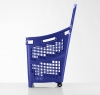 Blue 65 litres plastic Shopping baskets on wheels