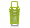 Green 65 litres plastic Shopping baskets on wheels