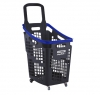 Grey and blue 65 litres plastic Shopping baskets on wheels