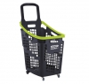 Grey and green 65 litres plastic Shopping baskets on wheels